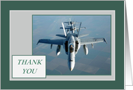Thank You for Holding the Line - F/A-18 card