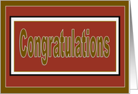 Congratulations! - Red & Gold U.S. Military Promotion card