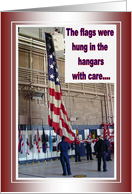 The Flags were Hung - Military Homecoming Card