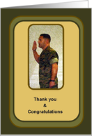 Marine Thank you & Congratulations card
