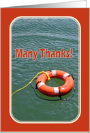 Lifesaving Ring Thank You Card