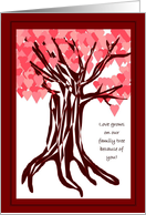 Love Grows on Our Family Tree - Valentine for Grandparents card