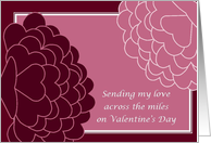 Sending My Love Across the Miles - Military Valentine's Day card