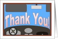 Driver's Ed Instructor Thank You! card