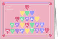 I Love My Life With You! - Love & Romance for Girlfriend card