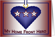 True Blue Home Front Hero Award - Military Spouse Appreciation card