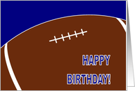 Football Happy Birthday card