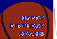 Basketball Coach Happy Birthday From All of Us card