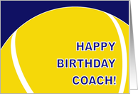 Tennis Coach Happy Birthday From All of Us card