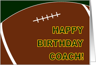 Football Coach Happy Birthday From All of Us card