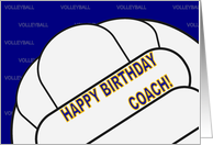 Volleyball Coach Happy Birthday From All of Us card