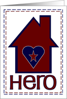 Homefront Hero - Military Spouse Appreciation Day card