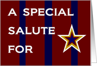 A Special Salute for a Military Kid - Thinking of You Across the Miles card
