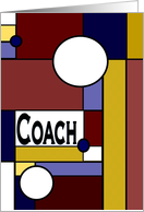 Coach, Happy Birthday - Colorful Stained Glass Look from All of Us card