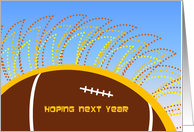 Dawn of New Year to Play FOOTBALL!! Happy Birthday! card