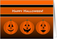 Jack-O-Lanterns Line Up to Wish a Happy Halloween to Your Grandson! card