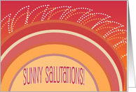 Sunny Salutations! - Happy Birthday to a Yoga Friend card