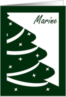 Marine - Wishes for Christmas Smiles and Warm Memories! card
