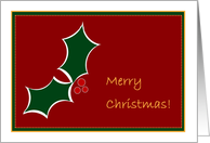Christmas Wishes for Customers - Health, Happiness & Prosperity card