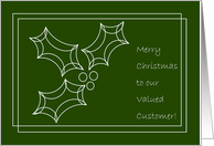 Valued Customer - Simple Merry Christmas & Happy New Year card