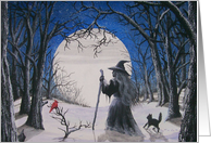 Folk Art Solstice Eve Yule Blessings CARD