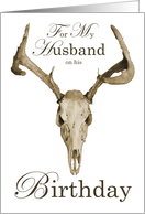 Happy Birthday Husband Buck-make time for yourself card