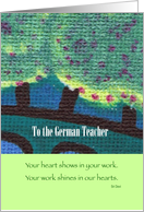 Thank you to the German Teacher card
