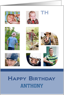Happy 16th Birthday custom name photocard card