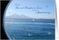 Anniversary for Son and Daughter-in-Law - Ocean View through Porthole card
