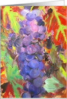 Wine Grapes in Autumn blank note card
