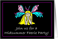 Midsummer Faerie Party Invitation card