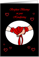Brightest Blessings on Your Handfasting card