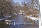 January Happy Birthday Snowy River Greeting card