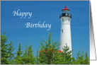 Lighhouse Birthday Crip Point Michigan Card