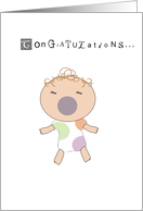 Congratulations on your new baby alarm card