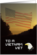 To a Vietnam Vet card