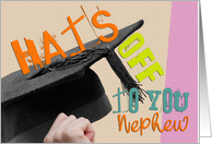 Nephew Graduation Congratulations Card - Hats Off To You card