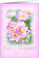 65th Wedding Anniversary Card - Dreamy Florals in Pink card