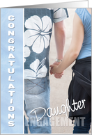 Daughter Congratulations on Your Engagement Card - Holding Hands card