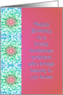 Happy Birthday to a Lovely Landscape Architect with Floral Design card