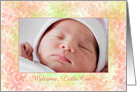 Birth Announcement Photo Frame Card For a Beautiful Baby card