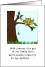 Birthday Wishes to You - Owl in a Family Tree card