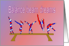 Wishing Gymnasts Inspiration and Encouragement On the Balance Beam card