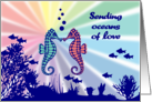 Oceans of Love and Congratulations on Moving in Together: Seahorses card