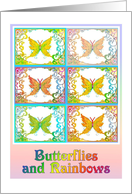 Butterflies and Rainbows Encouragement card