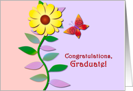 Congratulations, Graduate! Butterfly Soaring to New Heights. card