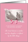Daughter Baby Shower Congratulations Girl Baby Feet Printed Bow card