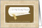 Classy Graduation Congratulations With Diploma For Classmate card
