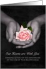 Remembrance Anniversary Loss of Mum Pink Rose In Hands card