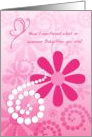 Thank You To An Awesome Babysitter, Girly Pink Retro Flowers card